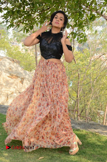 Actress Chetana Uttej Stills in Floral Long Skirt at Pichiga Nachav Movie Press Meet  0122.JPG