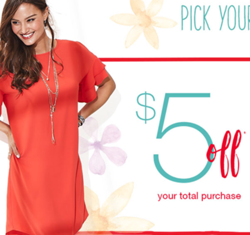 $5 off $5 Maurice's Clothing Purchase + Free Shipping