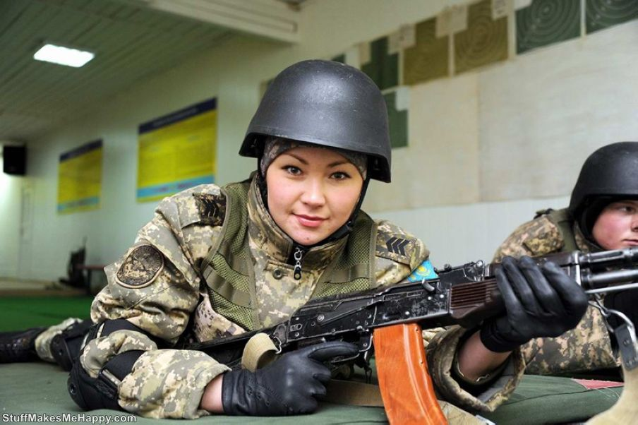 Gorgeous Army Girls from Kazakhstan