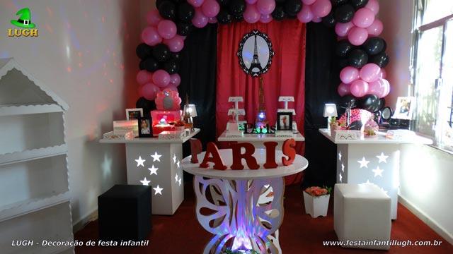 Decoração mesa provençal de festa tema Paris