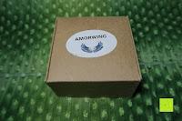 Verpackung: AmorWing 10mm Obsidian und Ruby Zoisit Gebetsarmband vom Einfachen Stil für Damen/Herren