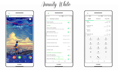 Download Annuity White | Green Tone | EMUI 5 Huawei Theme