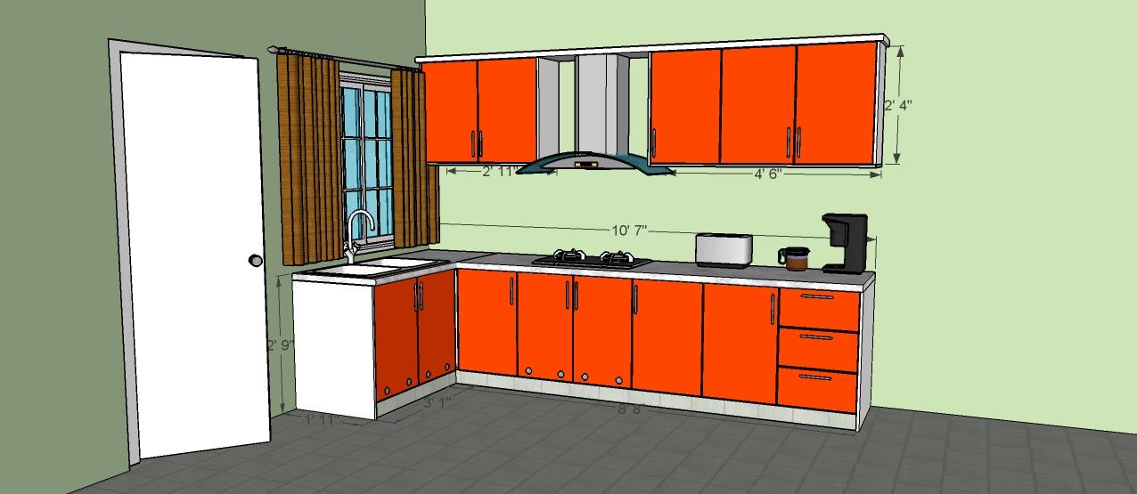 Ukuran Kabinet Dapur Desainrumahid
