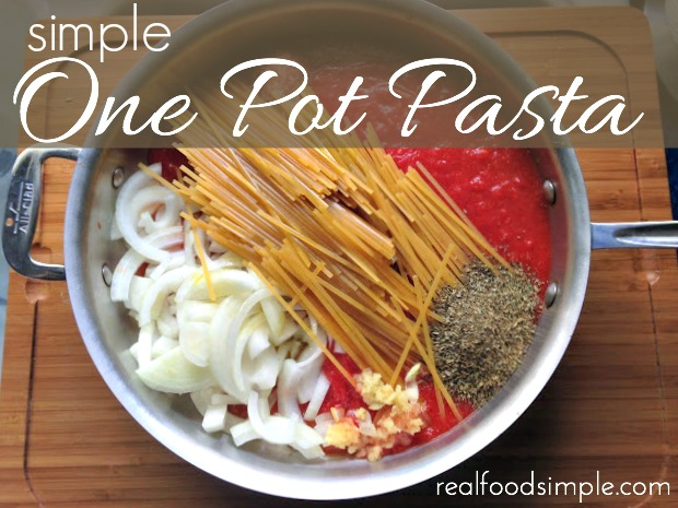 simple one pot pasta | realfoodsimple.com