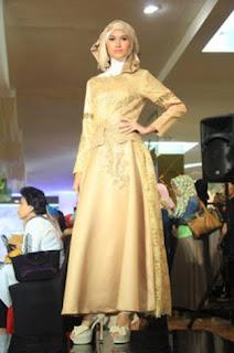 Baju pesta muslimah model terbaru