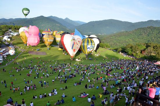 Karena Badai Nepartak, Festival Baloon di Taitung Dihentikan Sementara Waktu
