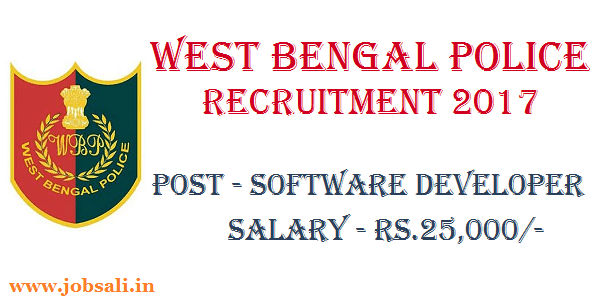 WB Software Developers vacancy, WB Govt jobs 2017, Kolkata Police IT Recruitment