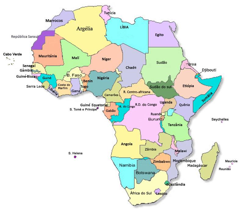 mapa africa nomes paises Serravalle na África do Sul: Africa de A a Z para estudar ordem  mapa africa nomes paises