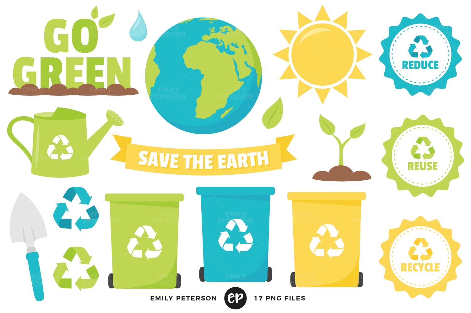 Earth Day Clipart, Emily Peterson