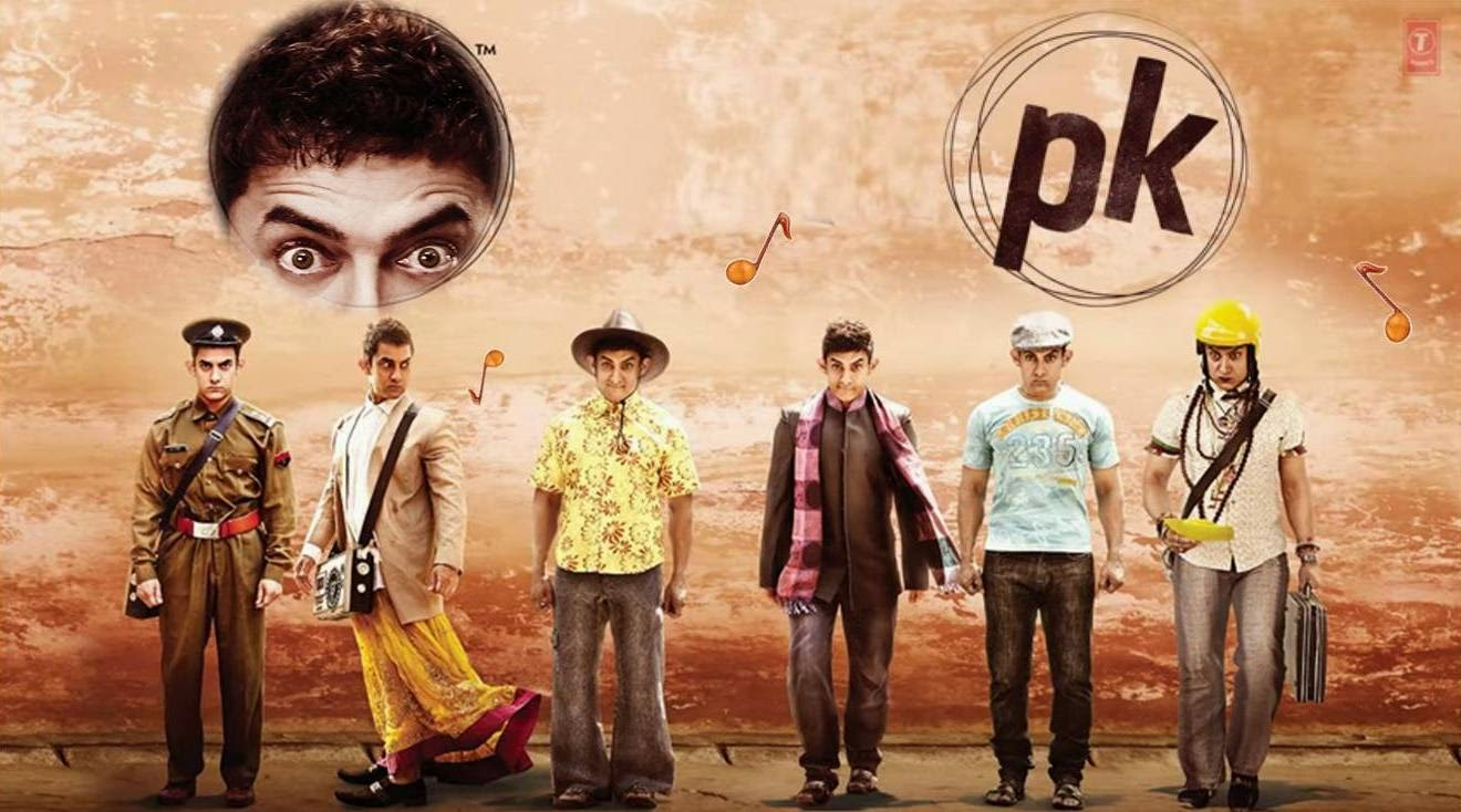 Costumes of in PK: Satrangi-Atrangi Kapde of Peekay