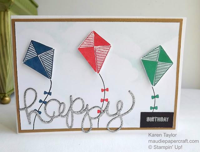 Stampin' Up! Swirly Bird kite card