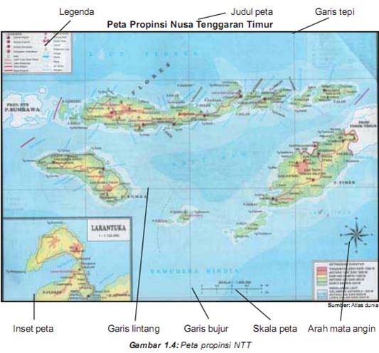 37+ peta indonesia lengkap dengan komponen peta. Peta Dan Komponennya