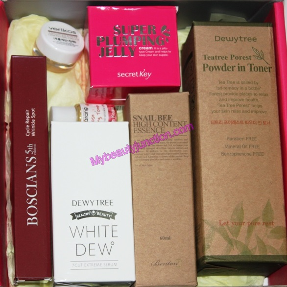 Memebox Skin Care box review, unboxing