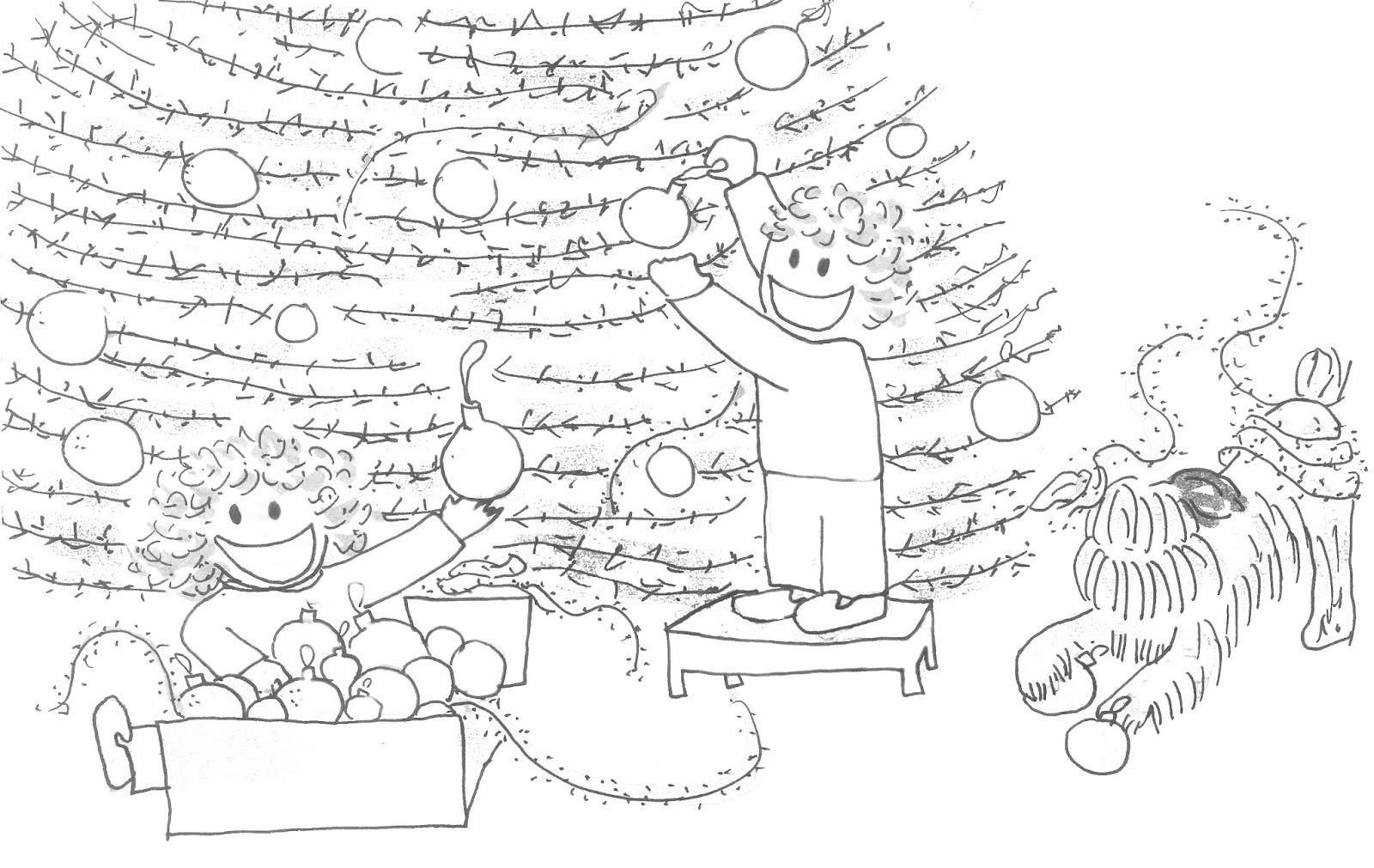 El Baño De Tina Y Leo Cuento Audiocuento Y Lámina Para: Lámina De Navidad Para Colorear