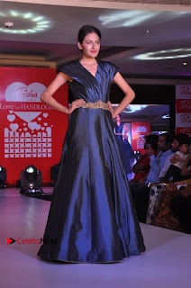 South Indian Celebrities Pos at Love For Handloom Collection Fashion Show  0070.jpg