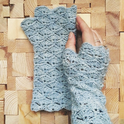 Crochet Fingerless Gloves - Free Pattern