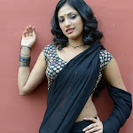 Hari Priya Hot Stills In Black Saree