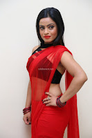 Aasma Syed in Red Saree Sleeveless Black Choli Spicy Pics ~  Exclusive Celebrities Galleries 096.jpg
