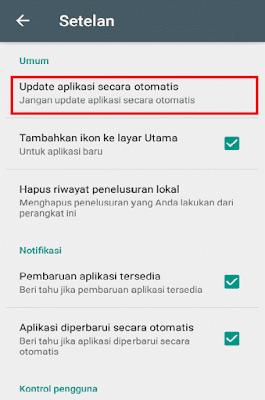 Update aplikasi secara otomatis