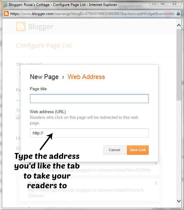 Type in the address with label to redirect readers