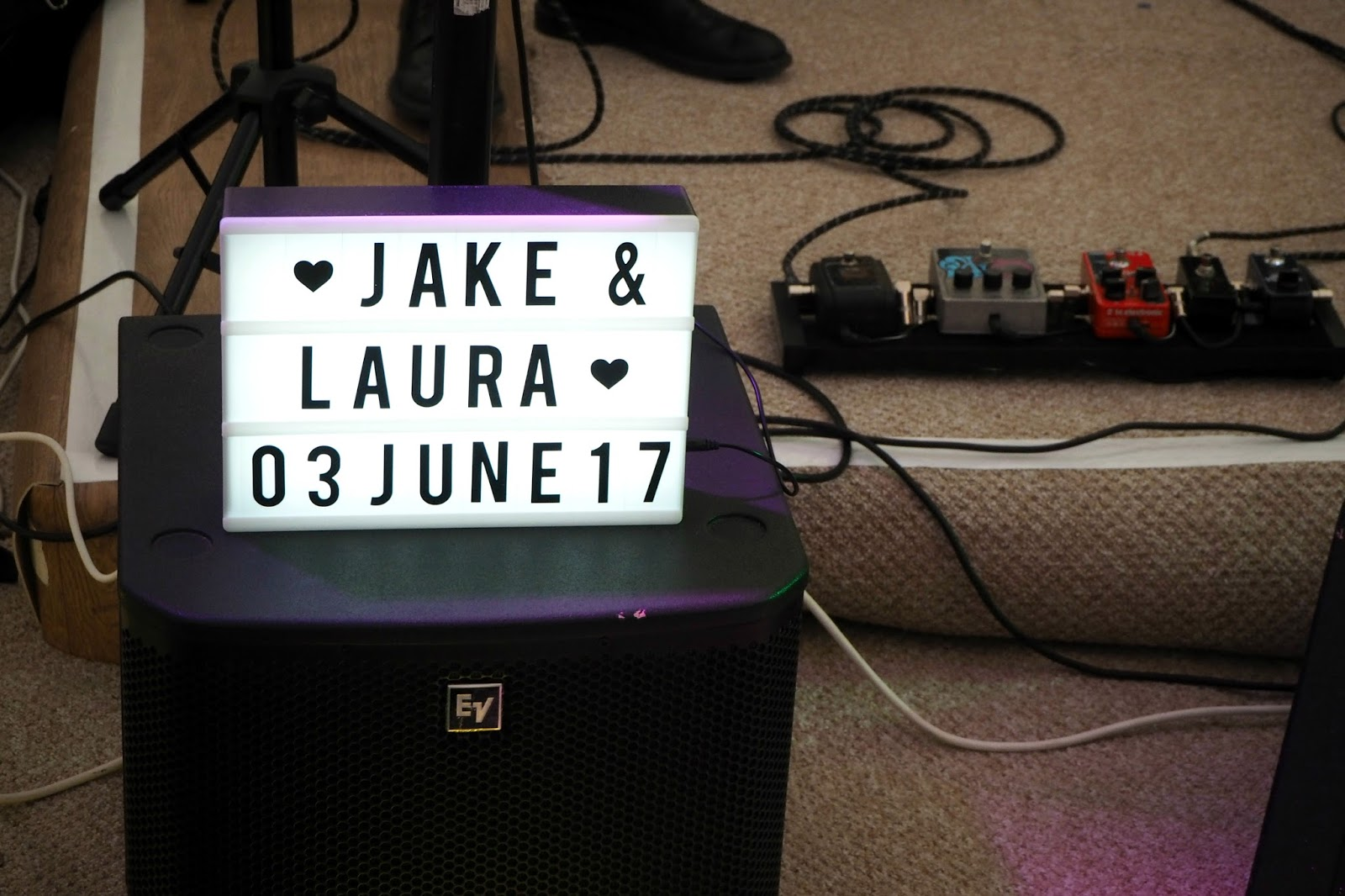 Jake and Laura signage