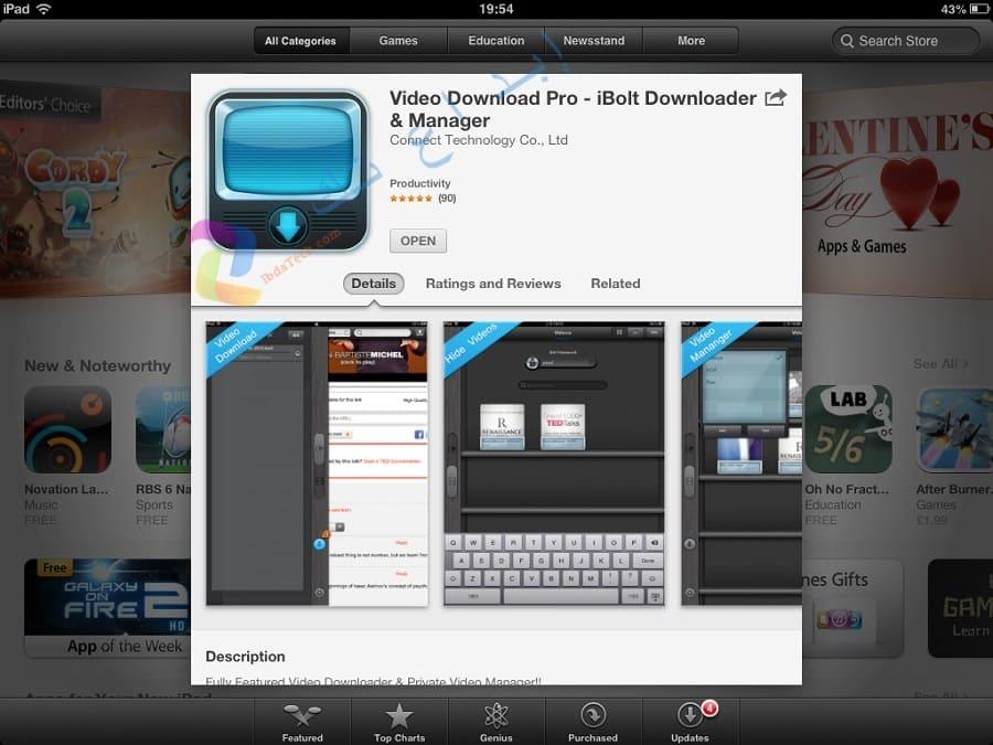 تطبيق iBolt Downloader