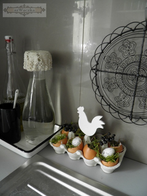 szwaczka dekoracje wielkanocne w kuchni