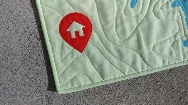 Mini map quilt