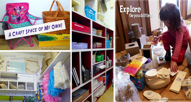 Everyone needs a craft space of their own and Annie Lang has some great ideas to make that possible!