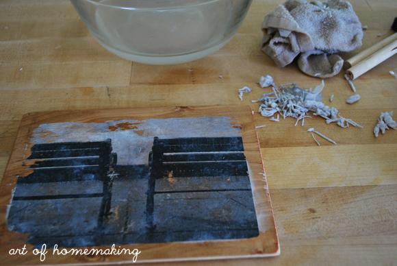 photo to wood transfer art the art of homemaking. Black Bedroom Furniture Sets. Home Design Ideas