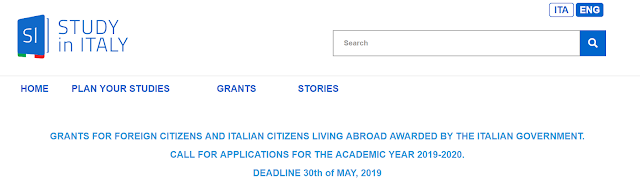 Italian Government Scholarships for Foreign Students for Masters and PhD studies