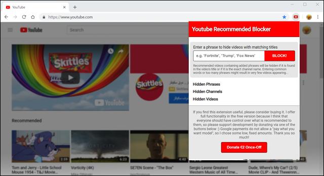 منع فيديوهات معينة من الظهور في اليوتيوب مع هذه الاضافة لجوجل كروم
