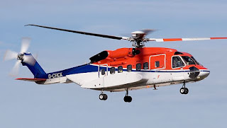 Search and rescue helicopter in flight