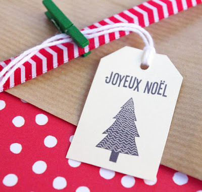 Gift tag for Christmas wrapping