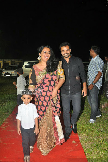 Kunchacko Boban with wife and son