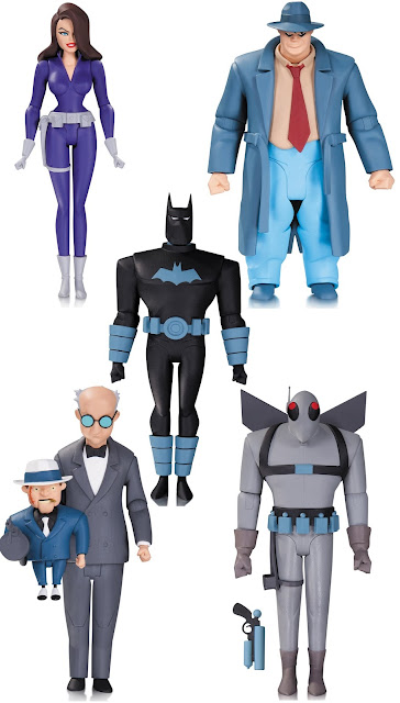 "Batman The Animated Series Wave 7 6"" Action Figures - Talia Al Ghul, Harvey Bullock, Anti-Fire Suit Batman, Scarface 7 the Ventriloquist & Firefly"