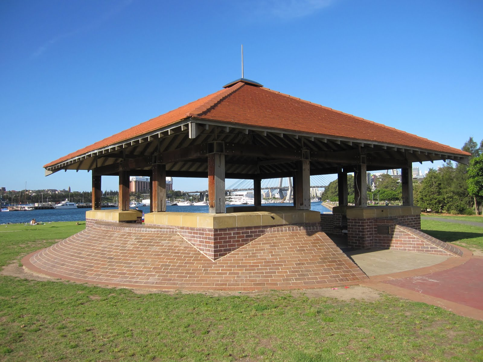 The Esther Abrahams Pavilion Is Located In Bicentennial Park Inner West Suburb Of Annandale It Named After Woman Who With Her Husband George
