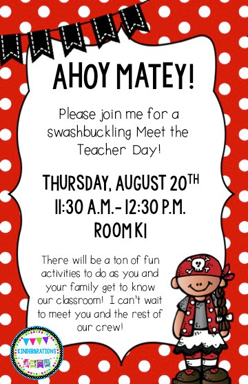 Meet the teacher day pirate style ahoy matey kinderbrations we used strips of black electrical tape on the sidewalk that led to a red x marks the spot in front of our classroom door thank you pinterest for the spiritdancerdesigns Choice Image