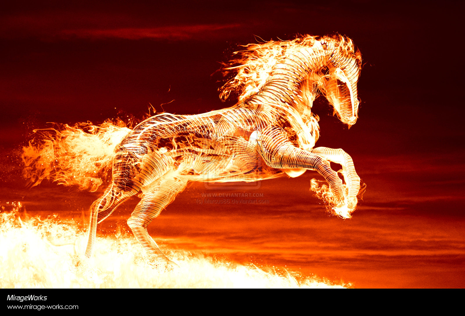 Free Desktop Wallpaper Fire: Peartreedesigns: Free Desktop Fire Horse Eddition