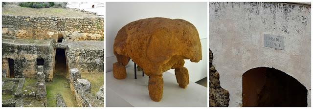 Elefante y templo del elefante de la necrópolis de Carmona