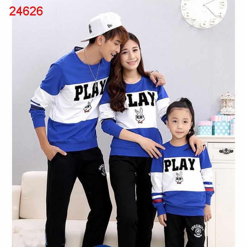 Jual Couple Keluarga Family Sweater Play - 24626
