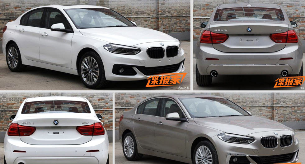 new photos of 2017 bmw 1 series sedan for china will get up to 231hp. Black Bedroom Furniture Sets. Home Design Ideas