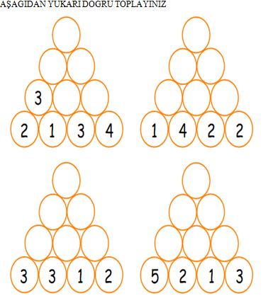 1 Sinif Matematik Piramit Toplamalar Etkinligi Calisma Kagidi
