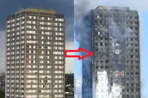London Fire in Grenfell Tower many people hospitalized