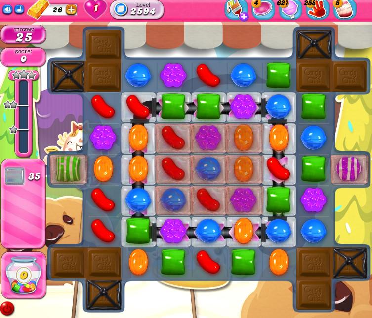 Candy Crush Saga level 2594