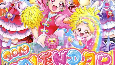 Calendario para 2019 del anime HUGtto! Precure