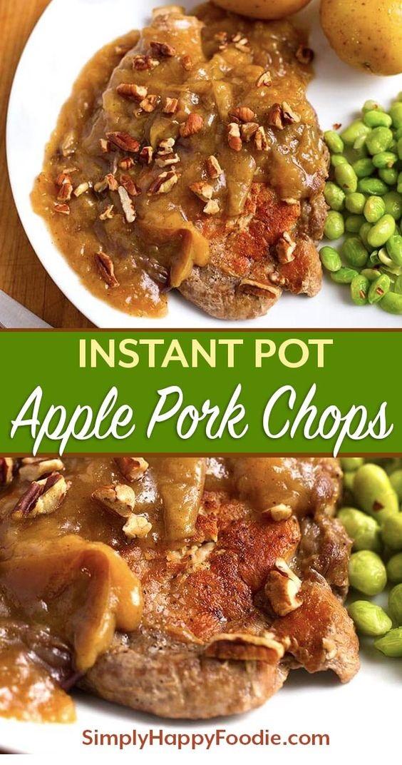 Instant Pot Autumn Apple Pork Chops