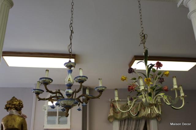 Consider, vintage chandolier hanging porcelain roses