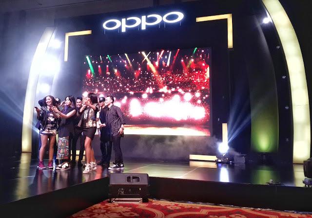 handphone, oppo, f1, selfie, isyana