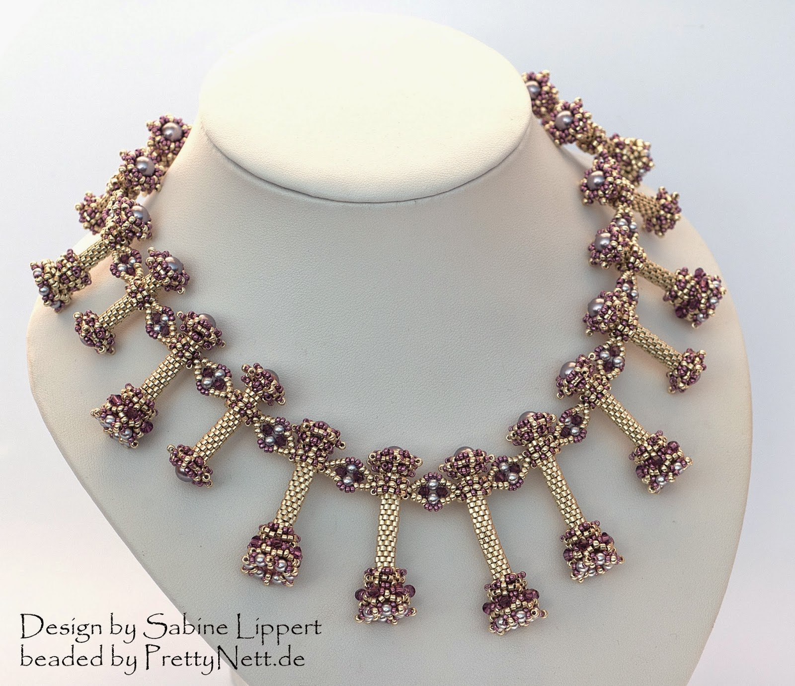 "Necklace ""Pendulum"" beaded by PrettyNett.de"